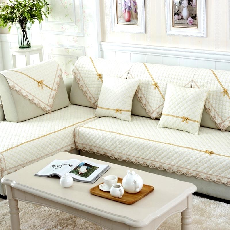 Cotton Towel Slipcover Sofa Cushion Pillow Cover Slip