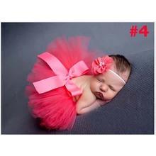 Newborn Tutu Skirt Baby Pettiskirt Tutu with Matching Headband Newborn Photography Prop Shower Gift TS001(China (Mainland))