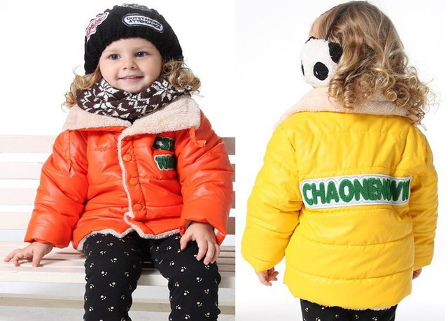 girls coats winter cotton coat kids children's outerwear padded coat