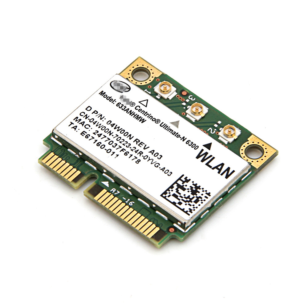 For Intel 6300 633ANHMW Dual band Wireless-N 450Mbps Wifi Mini PCI-e Card 802.11a/g/n Wireless Hotspot laptop network wlan(China (Mainland))