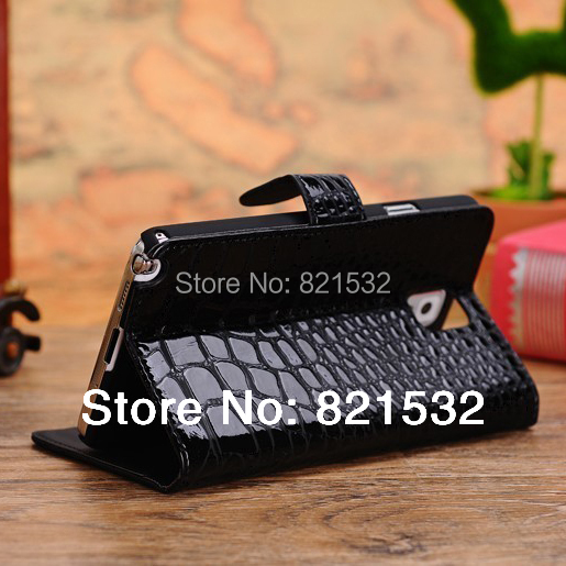 Crocodile Wallet Leather Cases For Note 3 Flip Case , For samsung note 3 phone covers With Money Slot In Stock(China (Mainland))