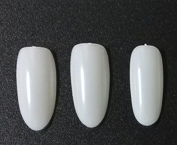 pointed round head stick a transparent color natural color 500 tablets of oval nail specials(China (Mainland))