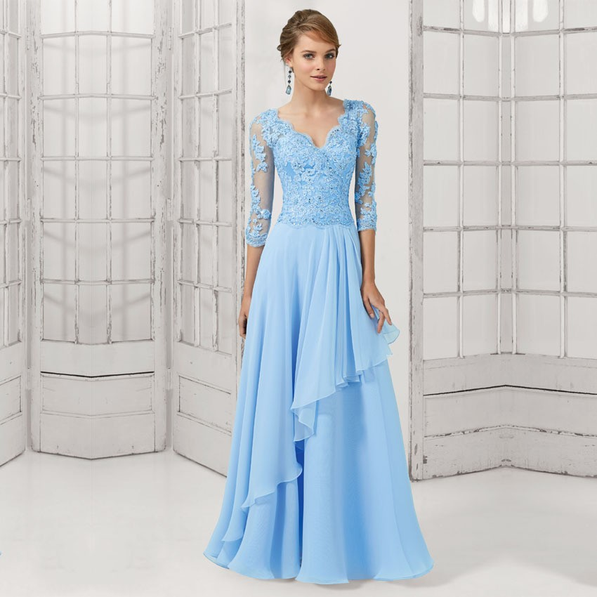Compare Prices on Light Sky Blue Evening Gowns- Online Shopping ...