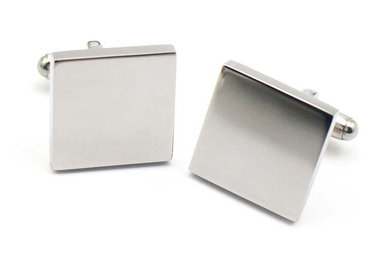 Fashion metal 316L stainless steel fashion square casual cuff links blank for man 2014(China (Mainland))