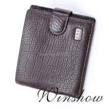 New Arrival FREE SHIPPING Classic Men Gentlemen Coffee Real Genuine Leather Bifold Clutch Wallet ID Credit