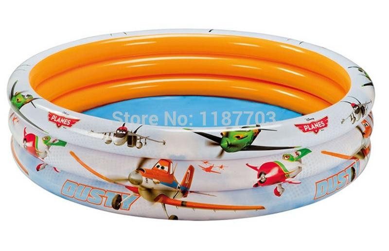 3 Ring Kids Swimming Pool Planes Garden Intex Pool #58425(China (Mainland))