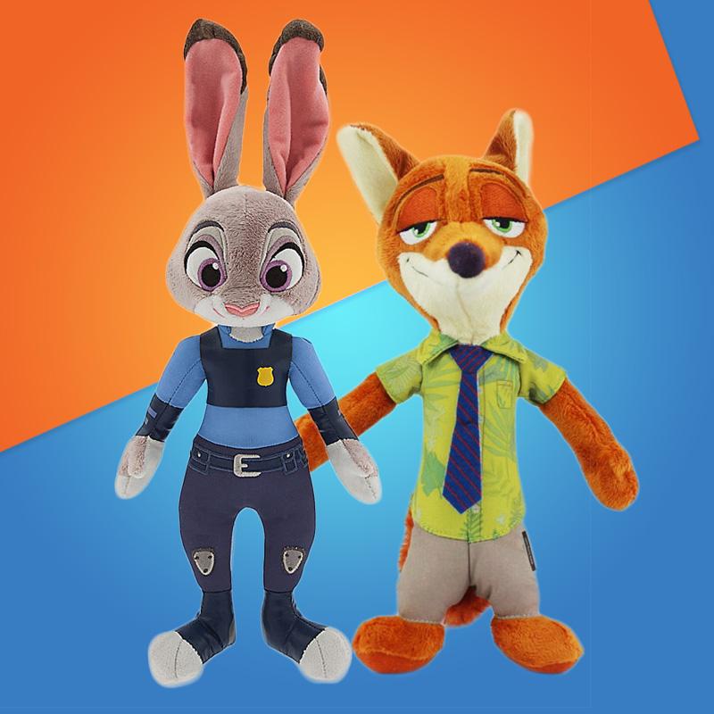 Zootopia Plush Police Rabbit Judy Hopps And Fox Nick Toy Stuffed Plush Animals Doll Movie Plush Zootopia Dolls
