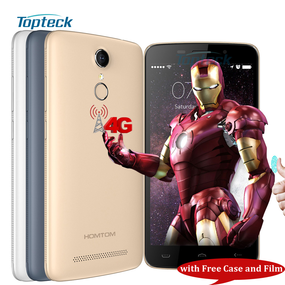 """HOMTOM HT17 4G 5.5"""" Smartphone Android 6.0 Quad Core MTK6737 1GB+8GB 8MP Cellphone Fingerprint 3000mAh Quick Charge Mobile Phone(China (Mainland))"""