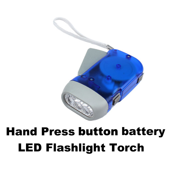 Hot Sell Portable 3 LED Hand Press Camping Wind Crank Flash Light Flashlight Torch NG4S