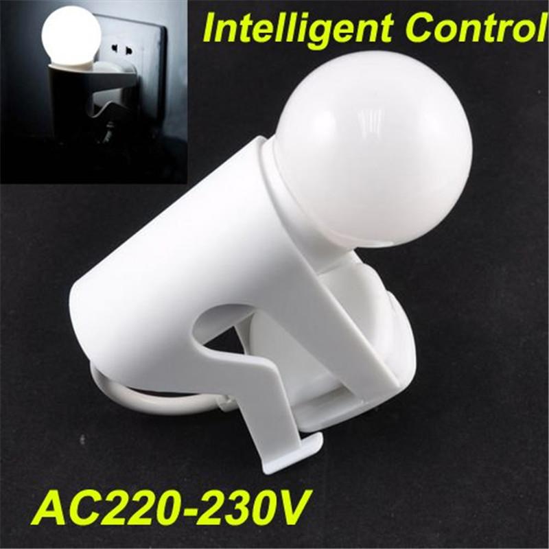 Fast shipping,White Lovely Figure Intelligent Light Control Sensor Led Bulb Light, Wall Lamp Night Light for Children<br><br>Aliexpress