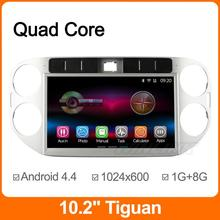 """1024*600 10.2"""" Quad Core Android 4.4 Car DVD For VW Volkswagen Tiguan 2013 2014 2015 DVD GPS Navigation Radio Support OBDll DVR(China (Mainland))"""