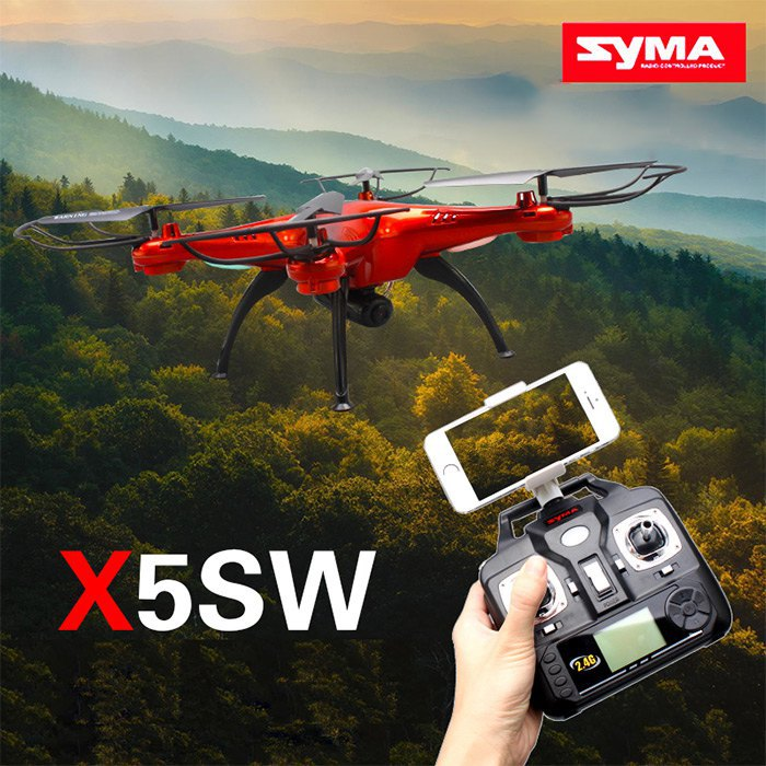 High-Quality SYMA X5SW / X5SW-1 WIFI RC Drone Quadcopter with FPV Camera Headless 6-Axis Real Time RC Helicopter Quadcopter Toys(China (Mainland))