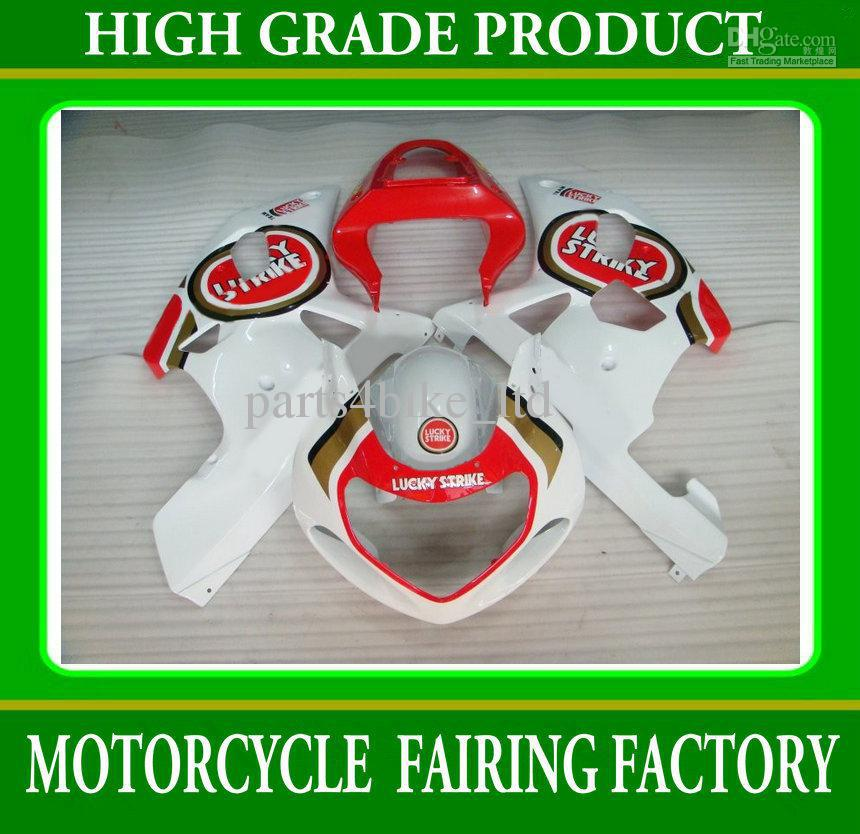 Red LUCKY STRIKE fairings body kit for suzuki GSXR 600 750 2001-2003 K1 GSXR600 GSXR750 01- 03 RX4x(China (Mainland))