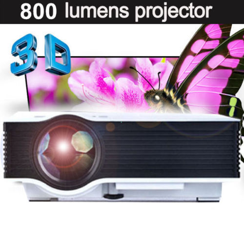 Здесь можно купить  800Lumens hd  Projector Korean Mini Pico portable Projector Proyector unic UC40 Home Theater LED TV  Vedio Projector Beamer HDMI  Бытовая электроника