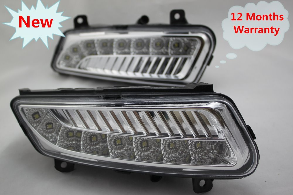 Free Shipping New 8 LED Pair Of DRL Daytime Running Light Fog Lamps Fog Lights For VW Polo 2010-2014 6R0941061+6R0941062C<br><br>Aliexpress