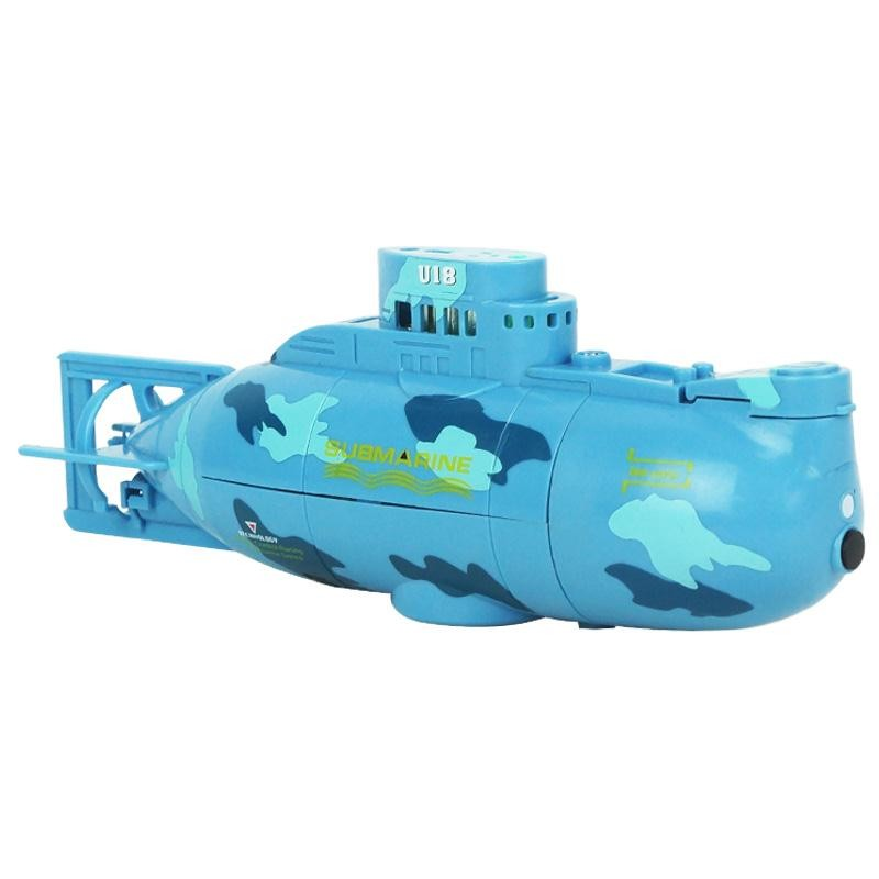 RC Water Boat 6CH Speedboat Model High Powered 3.7V Toy Boat Plastic Model Large RC Submarine Toys With USB Cable Blue Yellow
