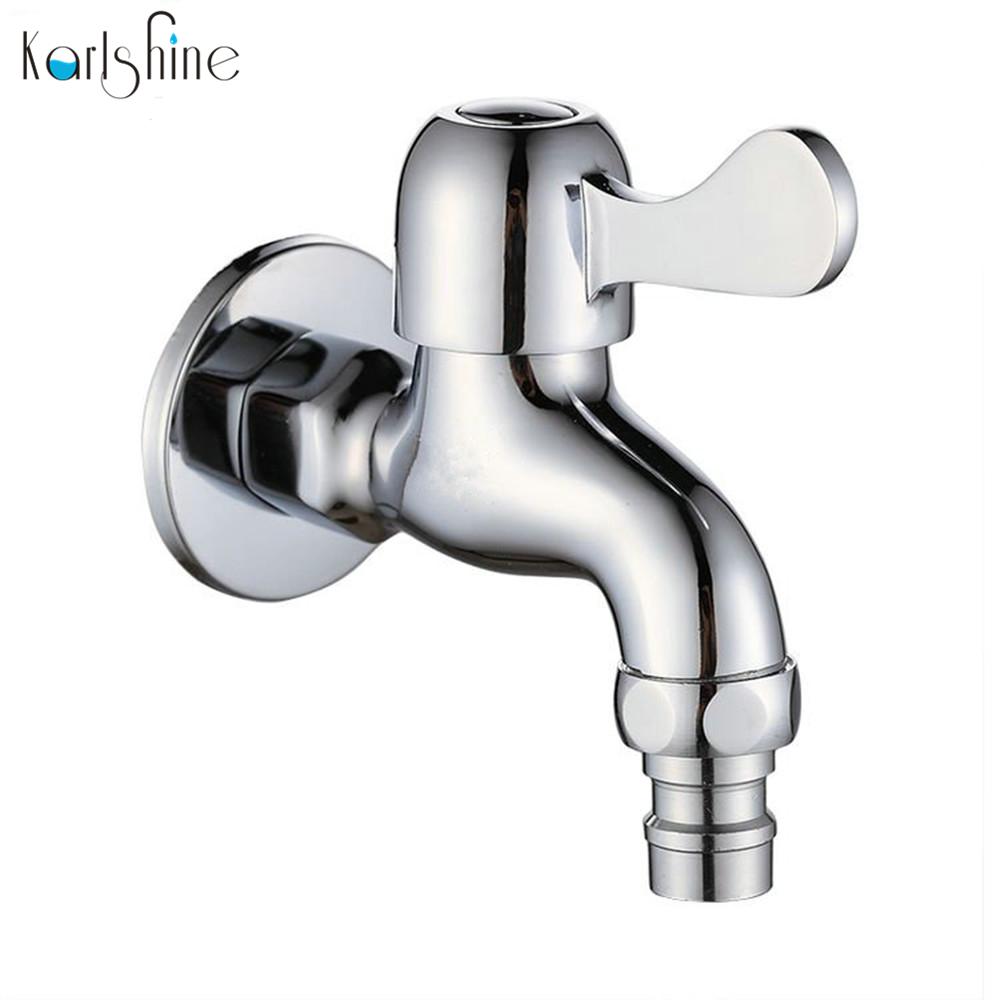 Free shipping Brass chrome Cold Water Wall Tap Garden Piscinas Long Washing Machine Water Tap Basin Faucet Bibcock taps SD-15(China (Mainland))