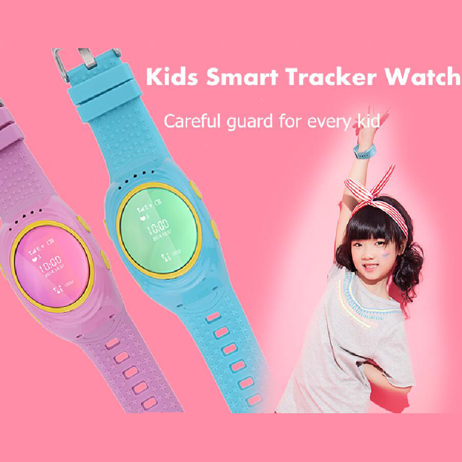 Kids GPS Tracker Watches 2016 D12 SOS Emergency GSM Locator Smart Mobile Phone APP For ISO Android Smartwatch Wristband Alarm