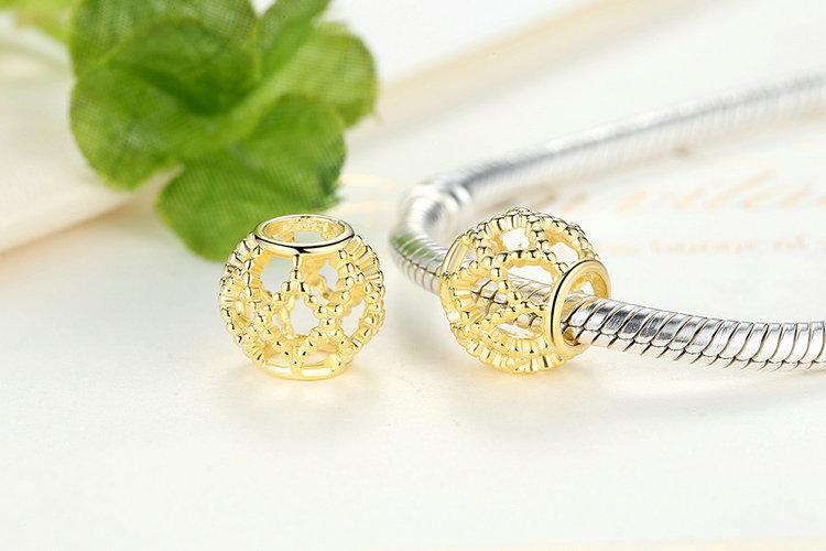 Bamoer 2016 Hot 925 серебряный подвески wanderlust, 14 К золото шарм для женщин браслет ожерелье аксессуары PAS107