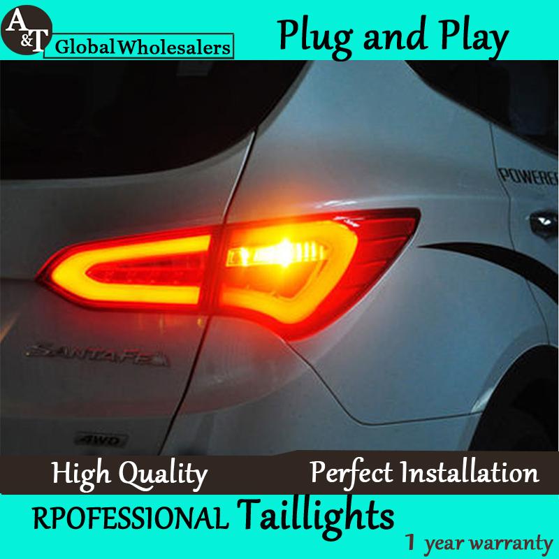 A&T Car Styling for Hyundai IX45 LED Tail Lights 2014 New Santa Fe IX45 Tail Light Rear Lamp DRL+Brake+Park+Signal(China (Mainland))