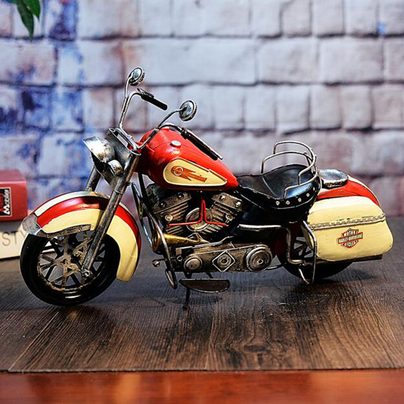 Collectible Retro Classic Car Models Metal Manual Motorcycle Model Metal Decor Vehicle Creative Boy Birthday Gift Toy Collection(China (Mainland))