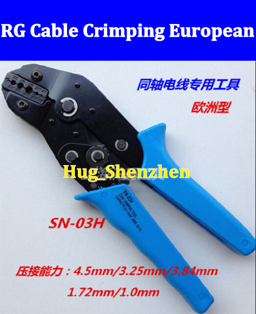 1pcs SN-03HSN-03H Type, RG Cable BNC terminals Crimping Tool Crimping pliers Free shipping(China (Mainland))