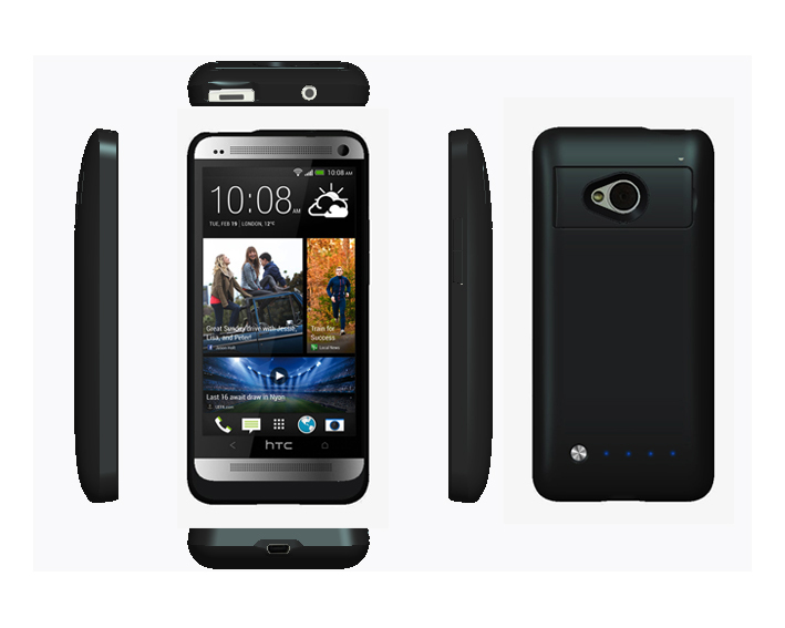 With Holder 3200mAh Backup Battery Case Power Charger Case Cover Sleeve For HTC One(M7) With Gift Packing(China (Mainland))