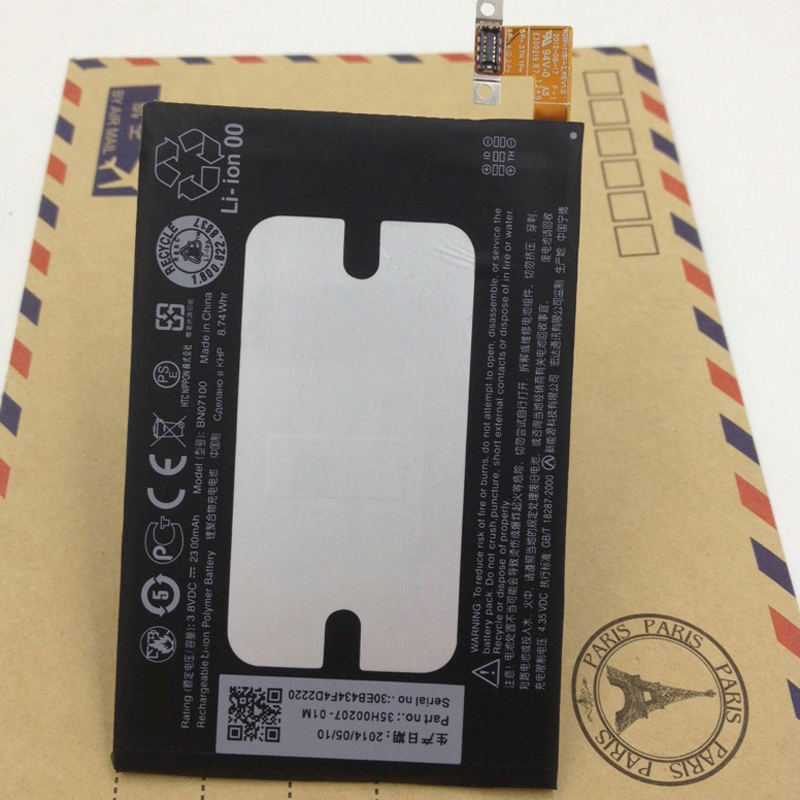 Original 2300mah A built in mobile phone battery for HTC 801E 801S ONE M7 802D 802W