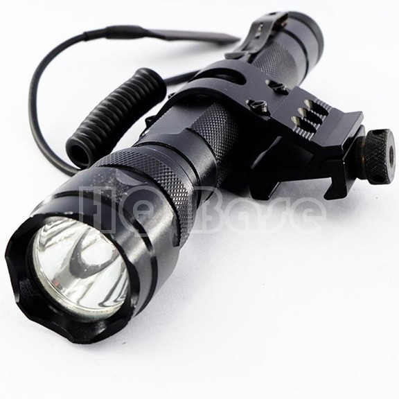1220 lumens CREE LED Weapon Light Weaponlight + Weaver/Picatinny Rail Mount + Clickie & Pressure Pad Switch+Belt Clip(China (Mainland))