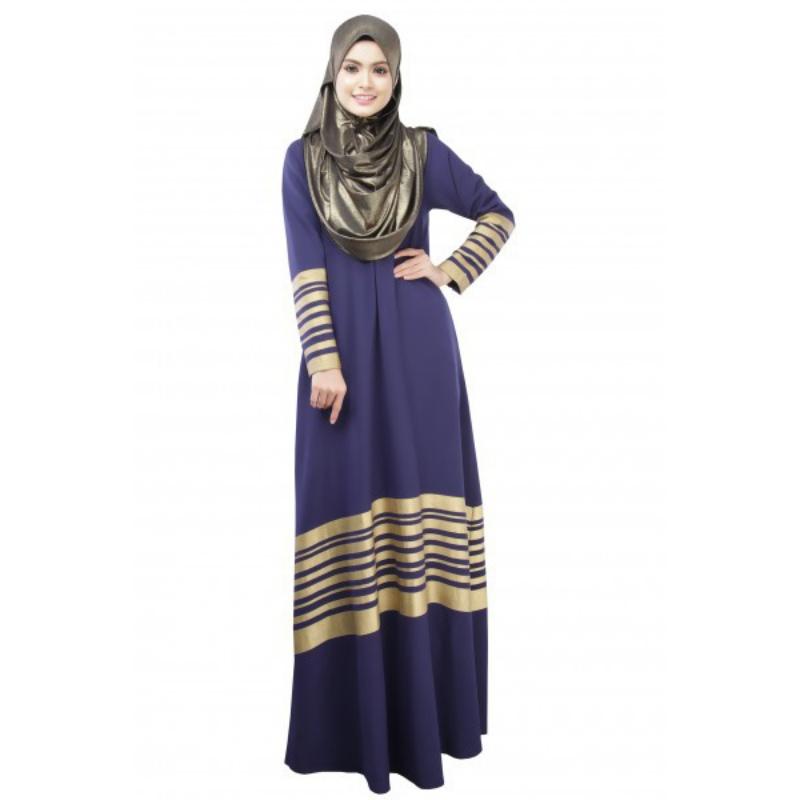 Ethnic Clothing Kaftan Abaya Jilbab Islamic Muslim Women Dresses Elegant Long Sleeve Party Maxi Dress