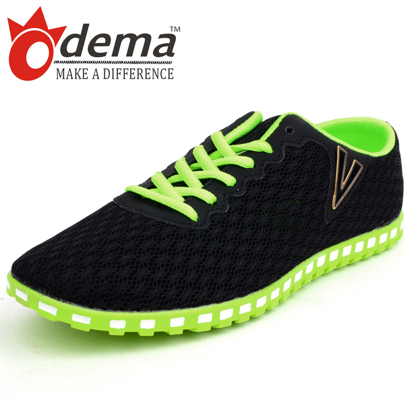 ODEMA Fashion men mesh shoes comfortable breathable men's casual shoes sports shoes man men sneakers gauze beach shoes