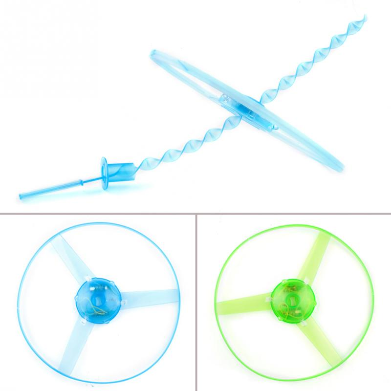 2015 Funny Outdoor Toy Frisbees Boomerangs Flying Saucer Helicopter Spin Disk Flight LED Toys(China (Mainland))