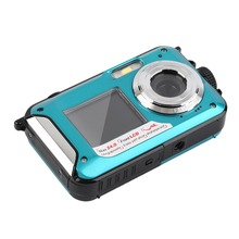 2.7inch TFT Digital Camera Waterproof 24MP MAX 1080P Double Screen 16x Digital Zoom Camcorder(China (Mainland))