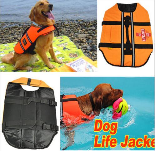 Fashion Apparel Dog Jackets Can Adjustable Dog Swimming Saver Pet Dog Products Accessories(China (Mainland))