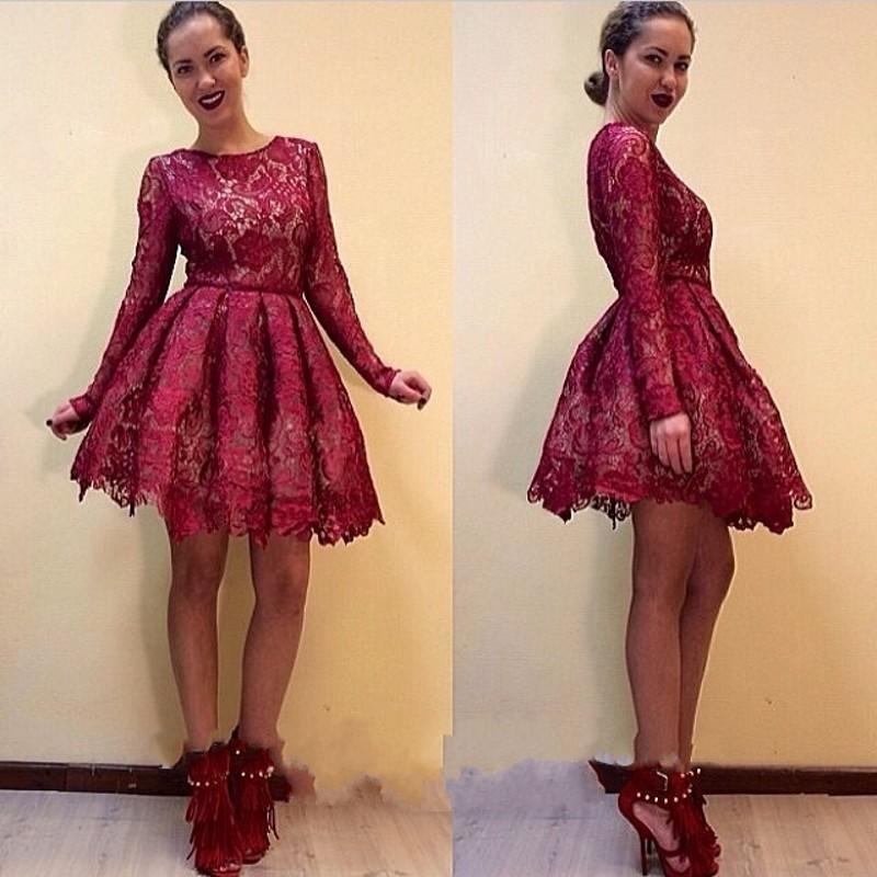 Online Get Cheap Long Sleeve Red Dress Juniors -Aliexpress.com ...