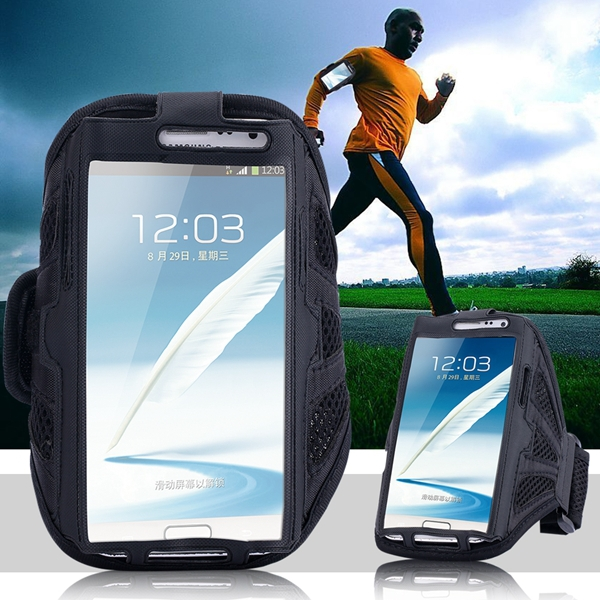 Breathing Holes Running SPORTS Armband for Samsung Galaxy Note 2/3/4 Case Outdoor With Belt & Velcro Buckle Jogging Arm Band(China (Mainland))