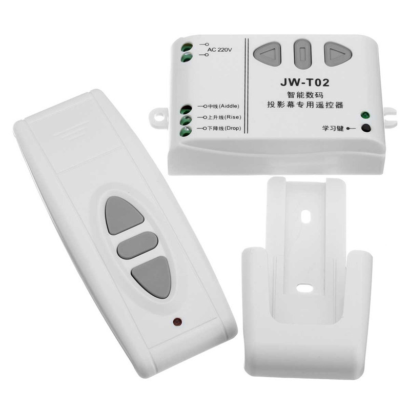 220V Digital Projection Screen Controller Electrical Curtain Motor Wireless Remote Control Switch Receiver 315/433MHZ(China (Mainland))