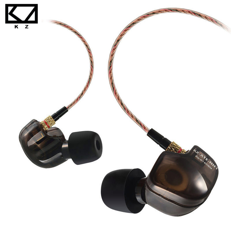 KZ ATE S Copper Driver HiFi Sport Headphones In Ear Earphone For Running With Foam Eartips