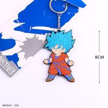 Dragon Ball Son Goku Rubber Keychain PVC Figures Japanese Hot Anime Dragon Ball Toys Pendant Collections Gifts #F