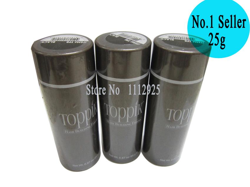 OEM Wig Building Toppik Keratin Fiber Hair Thicker Thinning Hair Powder Concealer Refill 25g Black/Dark Brown 10 Colors(China (Mainland))