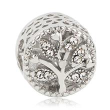 Nuevo Golden Tree Castle Owl Tassel cuenta de amor Ajuste Original Pandora encantos plata 925 pulsera joyería baratija para mujer hombre fabricación(China)