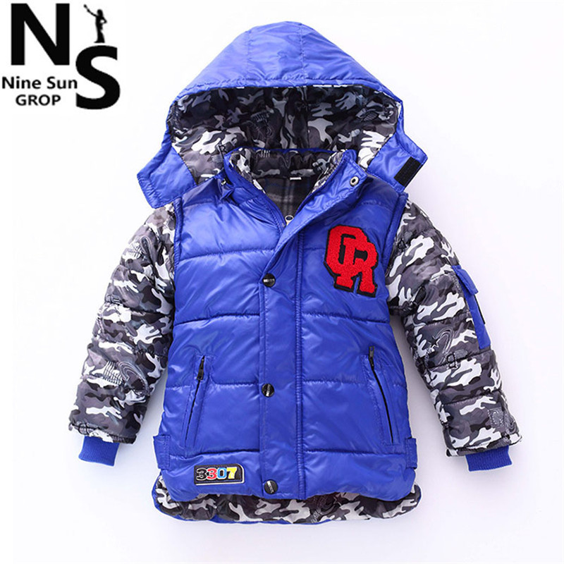 TOP NS 2015 New baby boys winter jacket soft warm cotton winter jacket for boys children