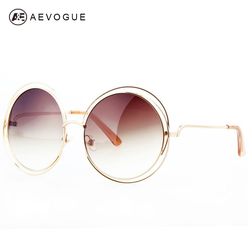 AEVOUGE Free Shipping Newest Fashion Brand Sunglasses Women Alloy Round Hollow Frame Good Quality Sun Glasses UV400 AE0175(China (Mainland))