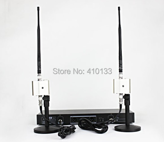 free shipping by dhl 2pcs set wireless microphone monitor system signal antenna amplifier. Black Bedroom Furniture Sets. Home Design Ideas