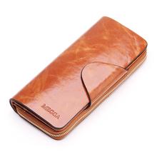 2 013 горячее надувательство женщин дизайн бумажник повелительниц молния кошелек монеты натуральная кожа пара сцепления мобильный телефон Holde
