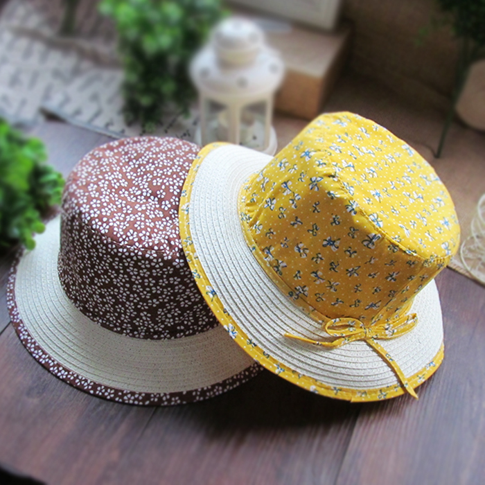 Child hat spring and autumn female male child baby bonnet baby sun hat spring and summer bucket hat bucket hats sunbonnet(China (Mainland))
