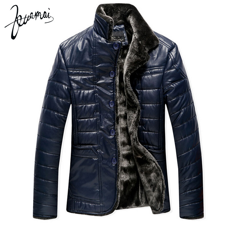 BN57 2015 Winter New High Quality Men Leather Jacket Fur Business Casual Plus Velvet Warm - Men Leather Jacket Coat -30 DegreesОдежда и ак�е��уары<br><br><br>Aliexpress