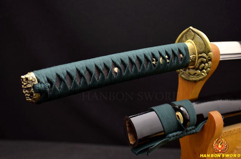 Buy 1095 Carbon Steel KO-KATANA HANDMADE Samurai Japanese Sword Full Tang Sharp Blade Battle Ready Practice Metal Home Decor Knife cheap