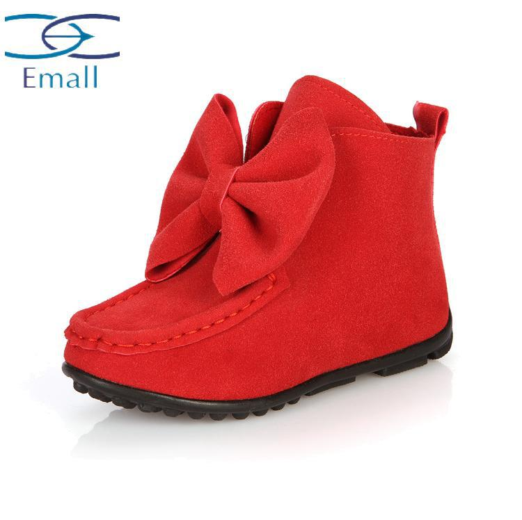 Гаджет  Manufacturers selling 2015 spring shoes children shoes big bow shoes boots leather boots baby girl group None Детские товары