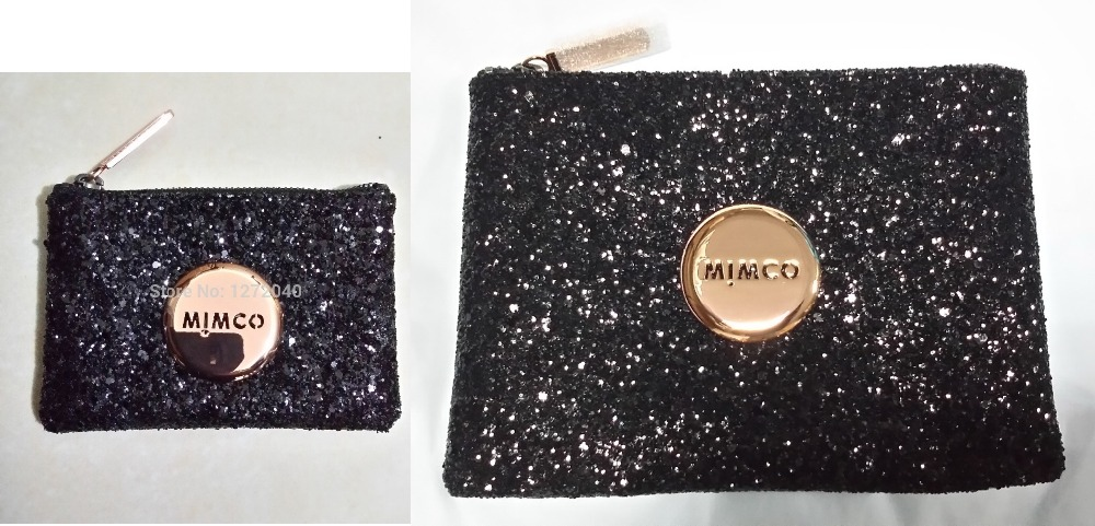 Mimco Medium Lovely pouch black rosegold sparks small pouch and mid pouch combo<br><br>Aliexpress